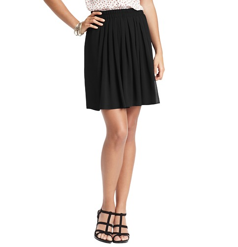 LOFT short accordion pleated skirt