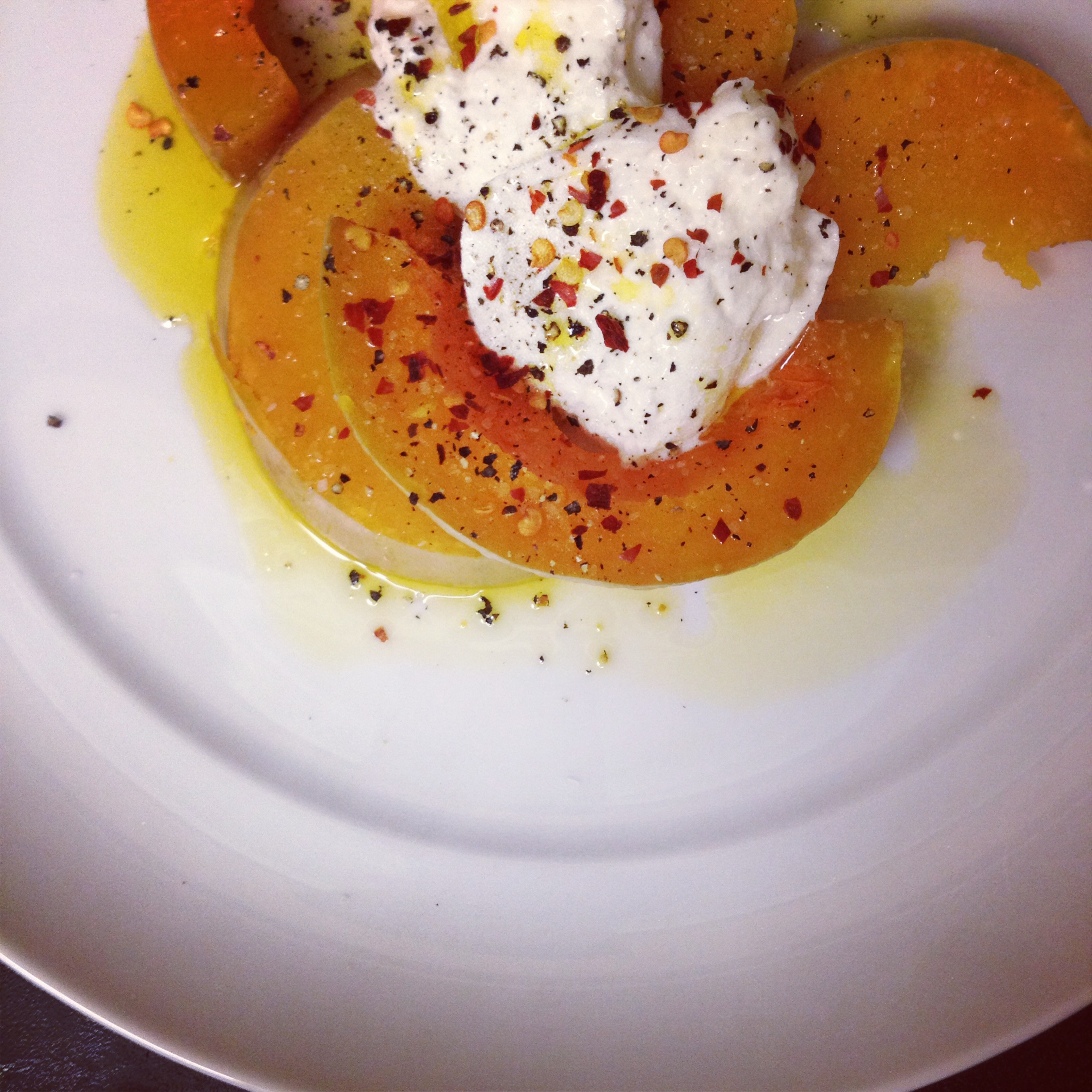 Meatless Monday: Roasted Butternut Squash with Burrata